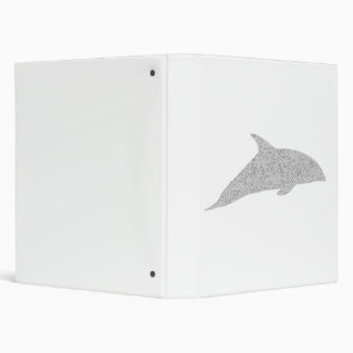 Distressed Grey Dolphin 3 Ring Binder