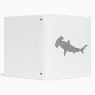 Distressed Grey Hammerhead Shark Binder