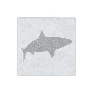 Distressed Grey Tiger Shark Stone Magnet