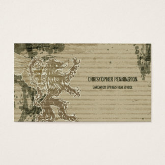 Distressed griffin graduation name card