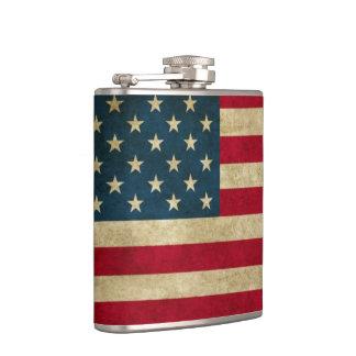 Distressed Grunge American Flag Flask