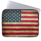 Distressed Grunge USA American Flag Computer Sleeve