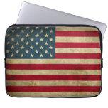 Distressed Grunge USA American Flag Computer Sleeve