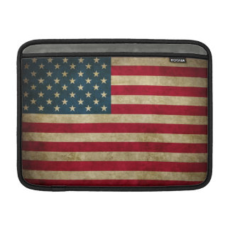 Distressed Grunge USA American Flag Sleeves For MacBook Air