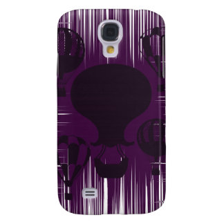 Distressed Grunge Vintage Hot Air Balloons Purple Galaxy S4 Cover