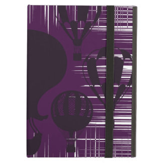 Distressed Grunge Vintage Hot Air Balloons Purple iPad Air Cases