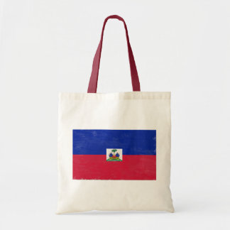 Distressed Haitian flag Tote Bags