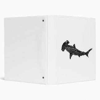 Distressed Hammerhead Shark Silhouette Vinyl Binders
