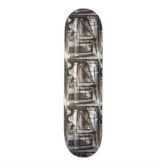 Distressed-Hand Painted Abstract Brushstrokes Skateboard