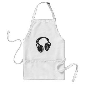 Distressed Headphones Adult Apron