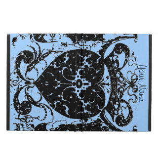 Distressed Heart Crown Graphic Art Add Your Text iPad Air Cover
