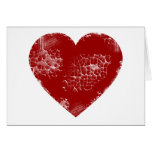 Distressed Heart Greeting Card