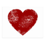 Distressed Heart Postcard