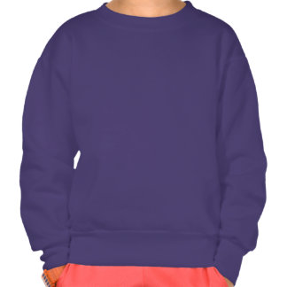 Distressed Horned Dinosaur Silhouette Pullover Sweatshirt