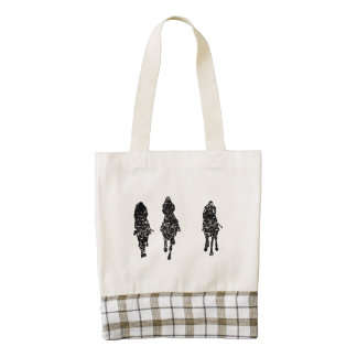 Distressed Horse Racing Zazzle HEART Tote Bag
