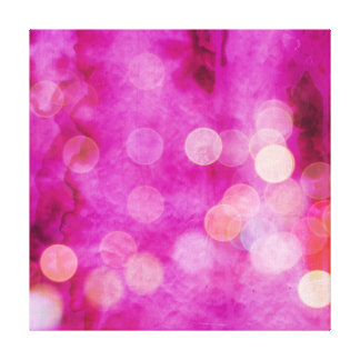 Distressed Hot Pink Fuchsia Bokeh Lights Canvas Print