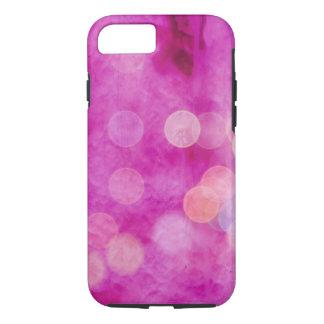 Distressed Hot Pink Fuchsia Bokeh Lights iPhone 7 Case