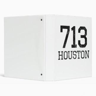 Distressed Houston 713 Vinyl Binder