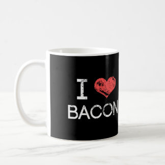 "Distressed ""I Love Bacon"" Coffee Mug"
