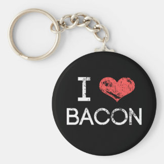"Distressed ""I Love Bacon"" Key Chain"
