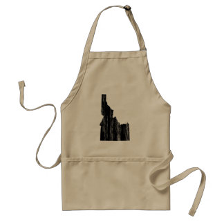 Distressed Idaho State Outline Adult Apron