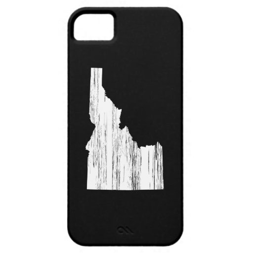 Distressed Idaho State Outline iPhone 5 Covers