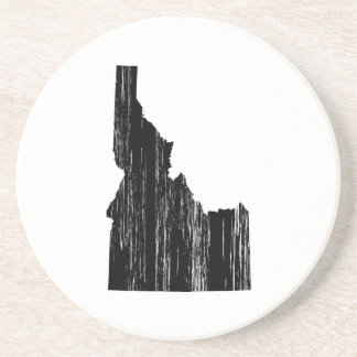 Distressed Idaho State Outline Sandstone Coaster