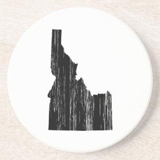 Distressed Idaho State Outline Sandstone Coaster