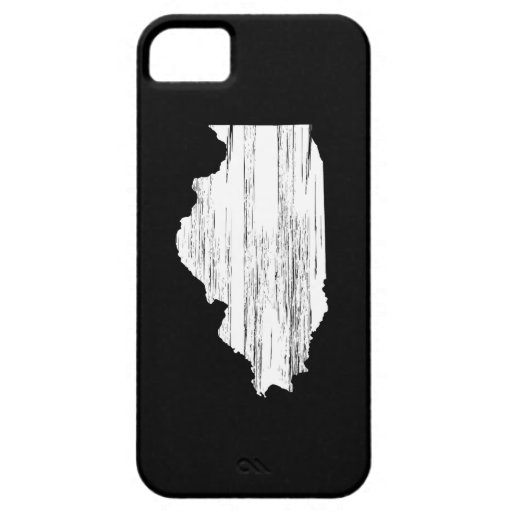 Distressed Illinois State Outline iPhone 5 Cases