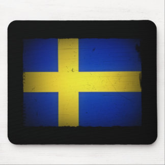 Distressed Image Swedish Flag Mouse Pad