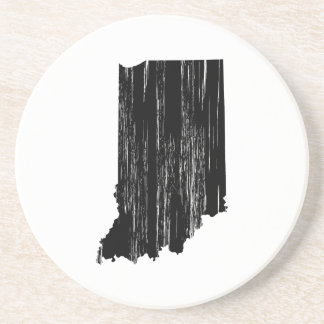 Distressed Indiana State Outline Drink Coaster