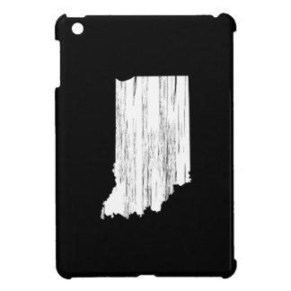 Distressed Indiana State Outline iPad Mini Cover