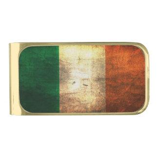 Distressed Ireland Flag Money Clip