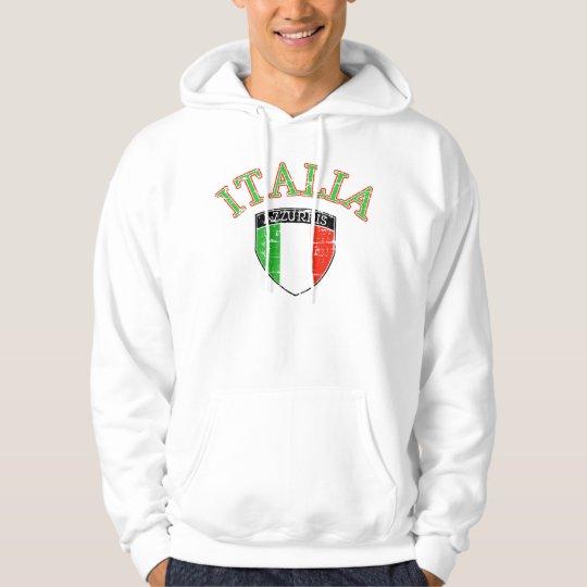 Distressed Italia flag Hoodie