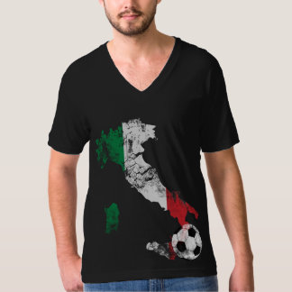 Distressed Italy Soccer T-Shirt