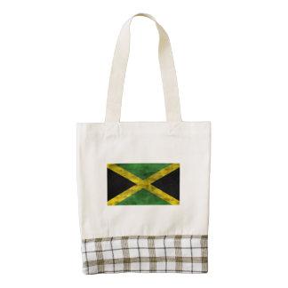 Distressed Jamaica Flag Zazzle HEART Tote Bag