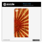 Distressed Japanese Flag iPhone 4S Decals