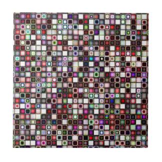Distressed Jewel Tones Textured Tiles Pattern