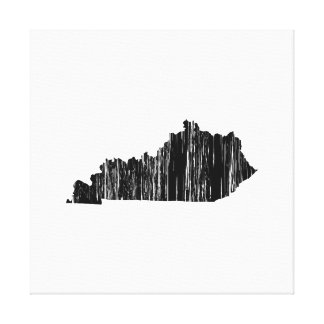 Distressed Kentucky State Outline Canvas Print