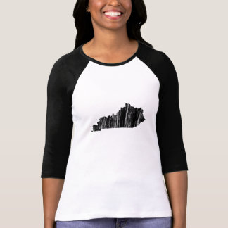 Distressed Kentucky State Outline Shirts