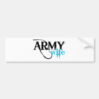 Distressed Lettering Army Wife Bumper Sticker