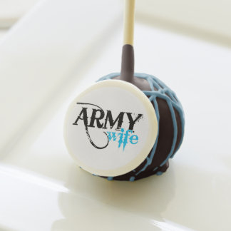 Distressed Lettering Army Wife Cake Pops