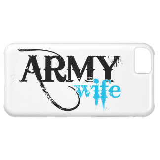 Distressed Lettering Army Wife iPhone 5C Cover
