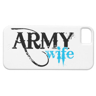 Distressed Lettering Army Wife iPhone SE/5/5s Case