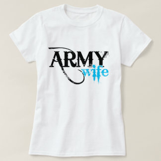 Distressed Lettering Army Wife T-Shirt