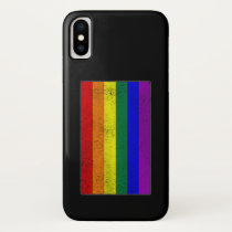 Distressed LGBTQ Pride Flag iPhone XS Case