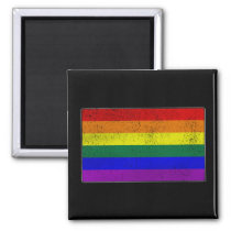 Distressed LGBTQ Pride Flag Magnet