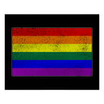 Distressed LGBTQ Pride Flag Poster