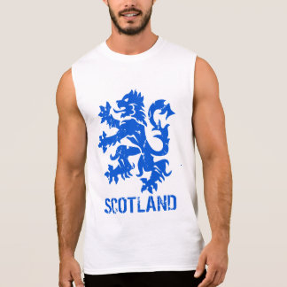 Distressed Look Scottish Lion Rampant Sleeveless Tee