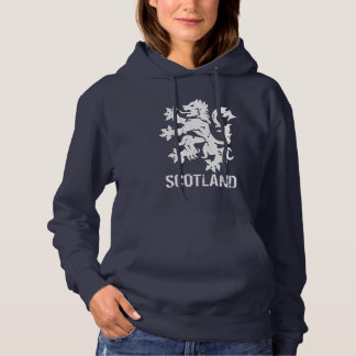 Distressed Look Scottish Rampant Lion Hoodie